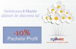 Sărbătorim 8 Martie cu 10% la pachetele de promovare!