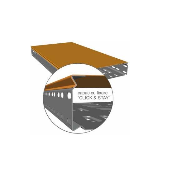 Jgheab metalic perforat