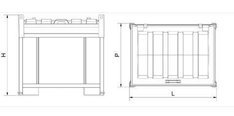Containere depozitare acumulatori uzati
