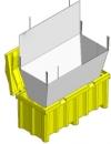 Container pentru tuburi fluorescente