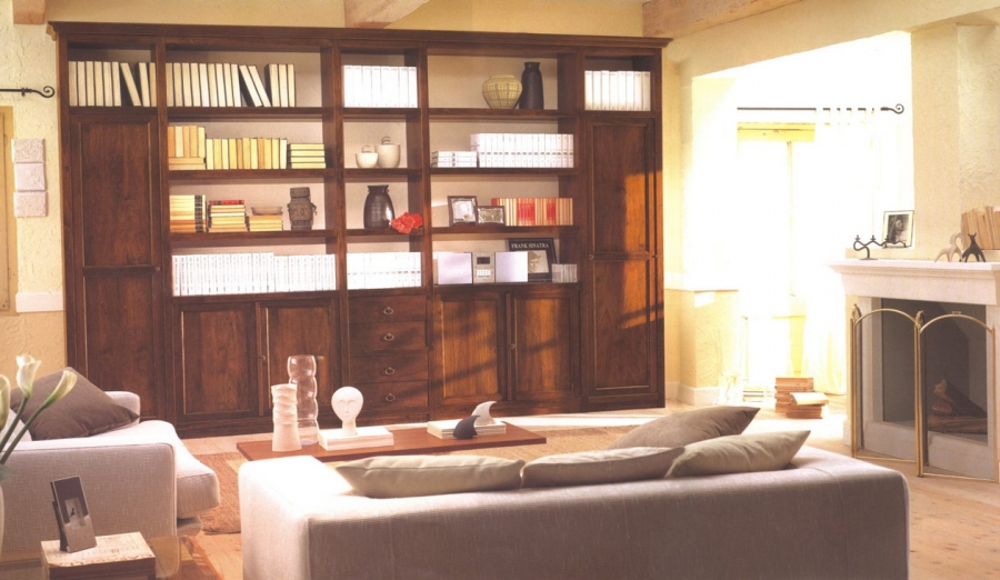 Biblioteca din lemn masiv  09