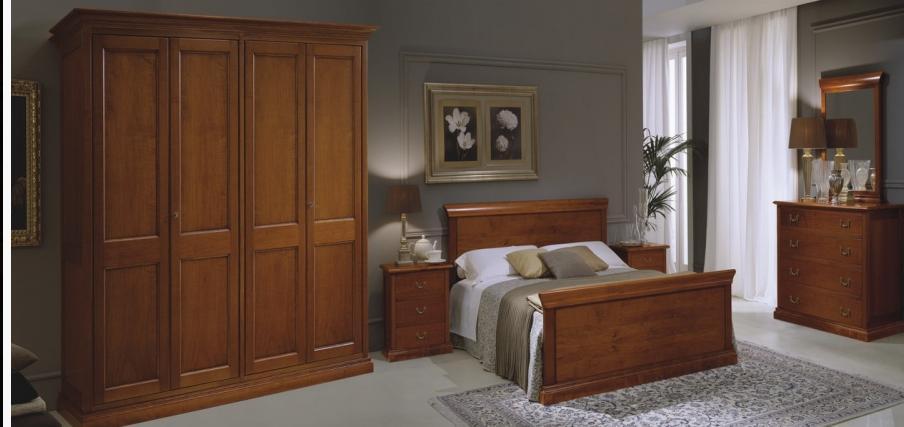 Mobila lemn masiv dormitor Mara