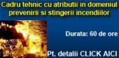 Cadru tehnic cu atributii in domeniul prevenirii si stingerii incendiilor