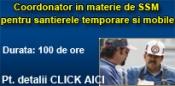 Coordonator in materie de SSM pentru santierele temporare si mobile