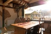 Mobilier lemn masiv restaurant
