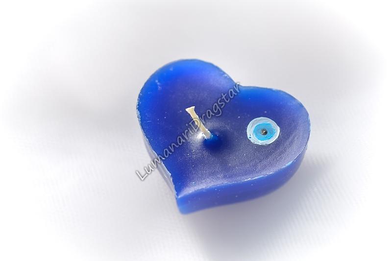 Lumanari plutitoare - inima - modele personalizate cu ochi