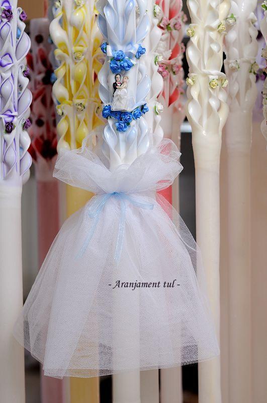 Aranjament lumanari nunta