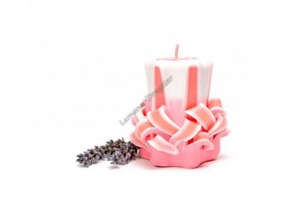 Lumanare sculptata -star mic roz