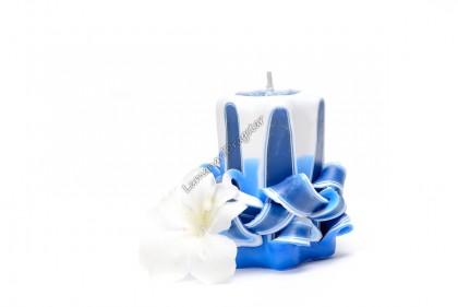 Lumanare sculptata -star mic albastru