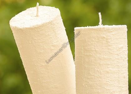 Lumanare cilindru diametru de 7cm, inaltime de 30cm - ivory-texturate
