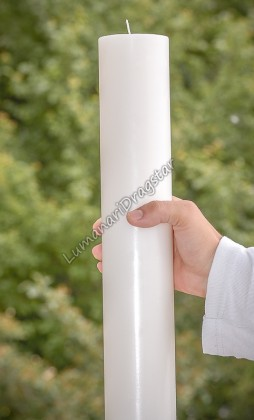 Lumanare cilindru diametru de 7cm, inaltime de 30cm - alb