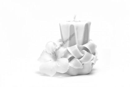 Lumanare sculptata -star mic alb dr600000