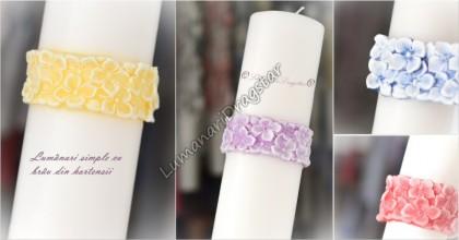 Lumanare cilindru diametru de 7cm, inaltime de 30cm - cu brau floral - culoare la alegere