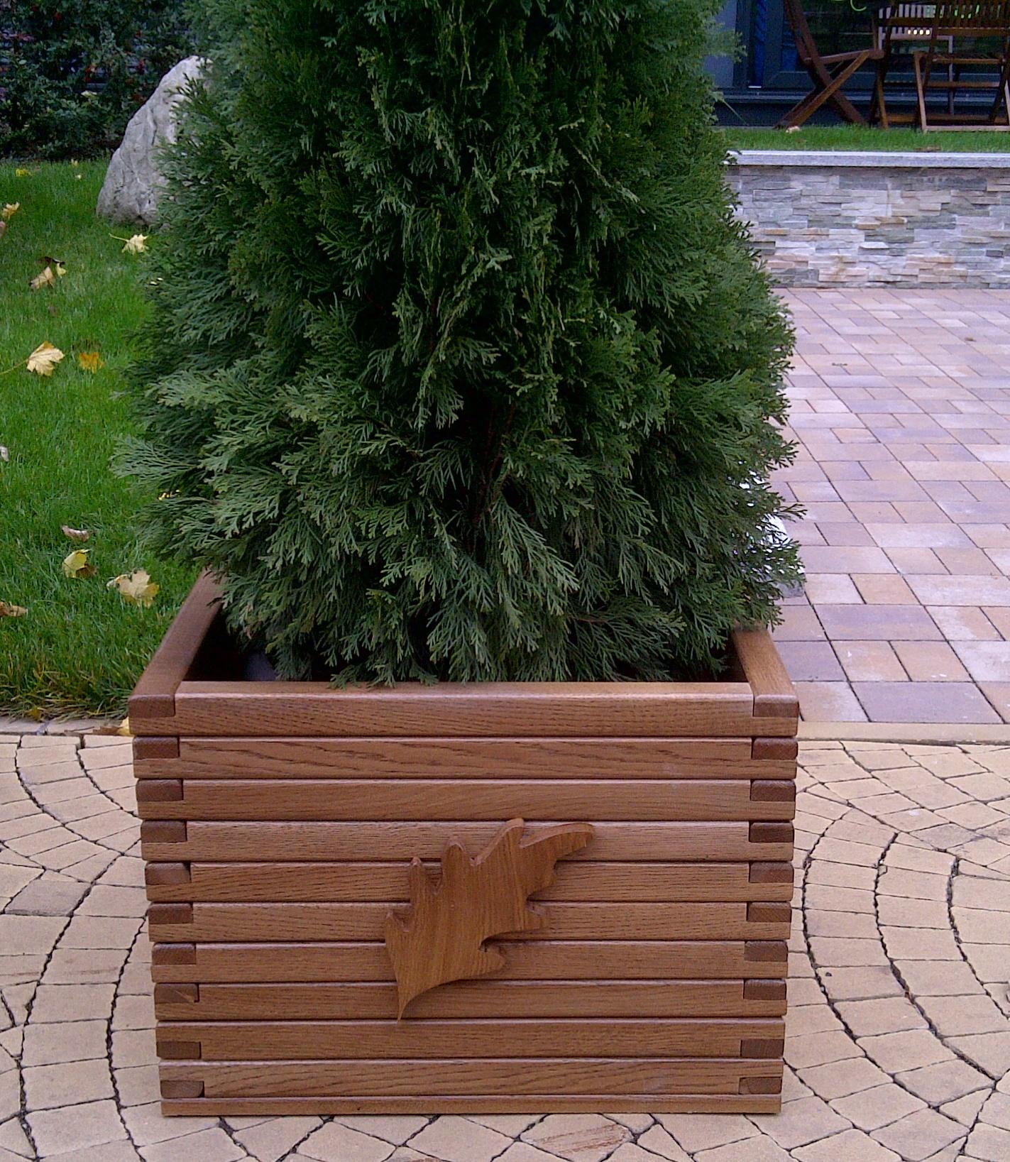 Jardiniere lemn