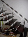 Balustrade inox-sticla