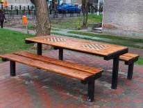 Mobilier urban lemn