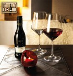 Set pahare sticla vin rosu si suport lumanare - Sicilia