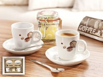 Set cesti portelan Pura Espresso