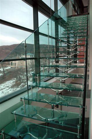 Scari interioare sticla