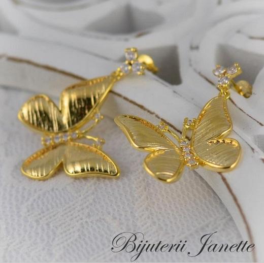 Cercei placati cu aur