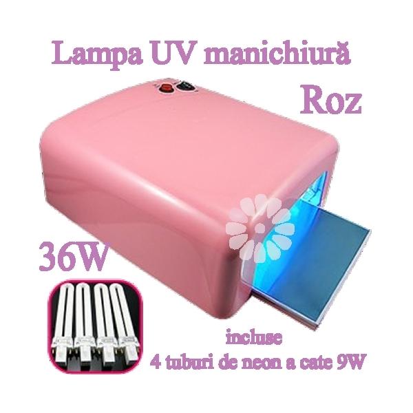Lampa UV 36W manichiura ROZ