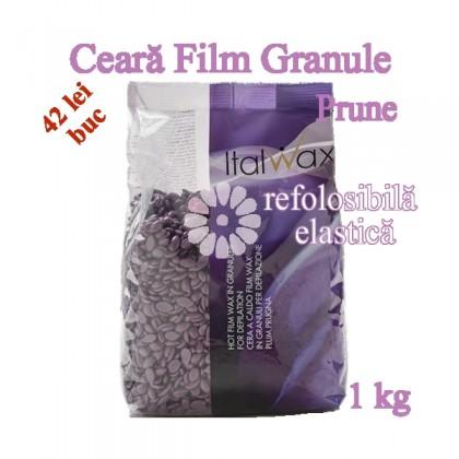 Ceara FILM granule Prune 1kg elastica, refolosibila - ItalWax
