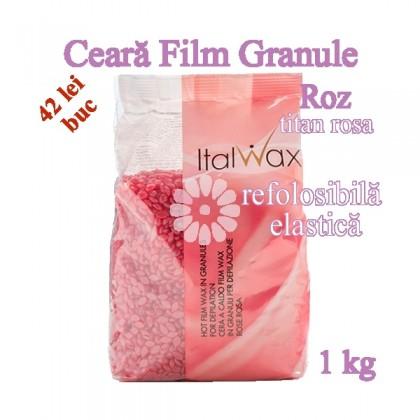 Ceara FILM granule Roz 1kg elastica, refolosibila - ItalWax
