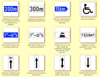 Indicatoare rutiere aditionale