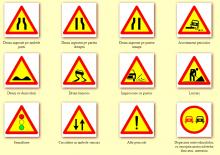 Indicatoare rutiere temporare