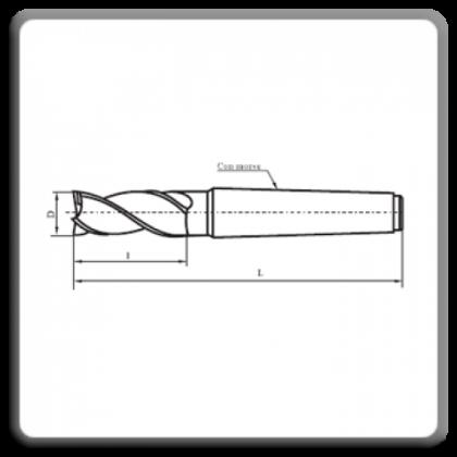 Freza cilindro-frontala cu coada conica