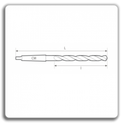 Burghie elicoidale extralungi cu coada conica DIN 1870 N