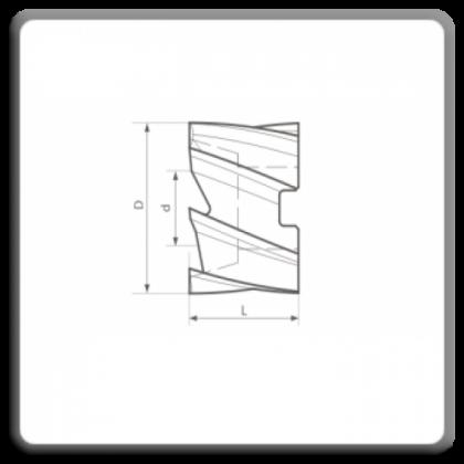 Freze cilindro-frontale cu alezaj DIN 1880 N
