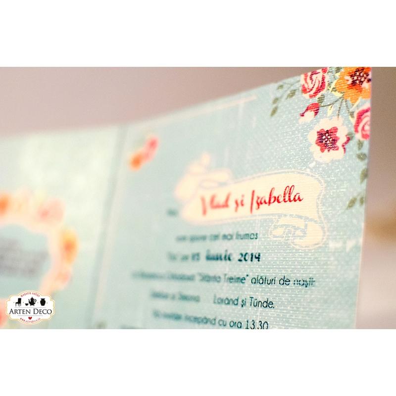 Invitatii nunta handmade