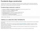 Curatenie dupa constructor Constanta