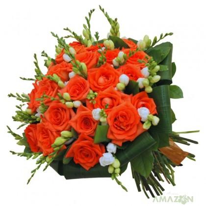 Buchet frezii si trandafiri Naranga