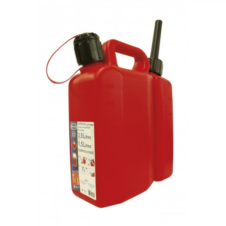 Canistra din plastic cu compartiment dublu 1,5 L- 3,5 L