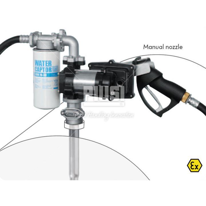Pompa 12 V transfer lichide explozive cu pistol manual