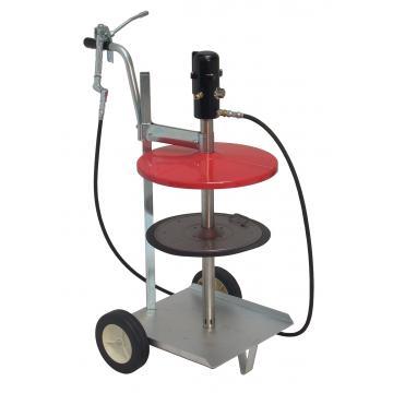 Pompa de gresat pneumatica cu carut pentru galeata de 25Kg