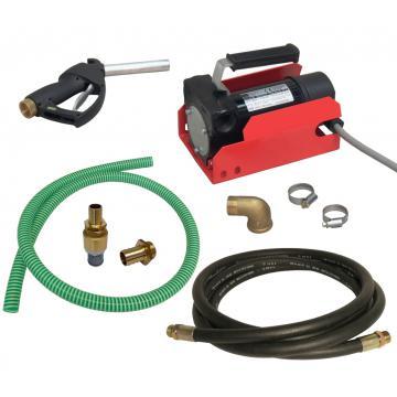 Pompa transfer motorina 12 V cu accesorii, 36 L/min