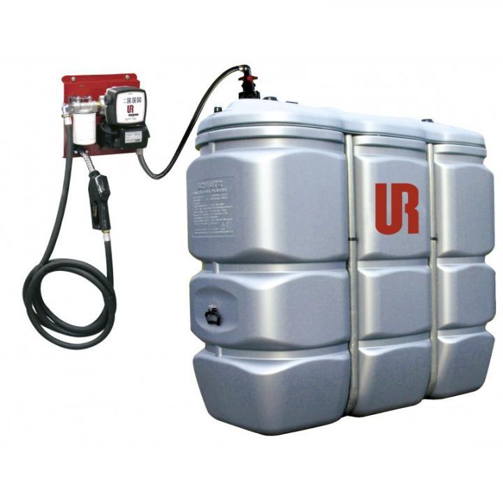 Rezervor PEHD de 1500 L cu statie transfer carburant 230 V