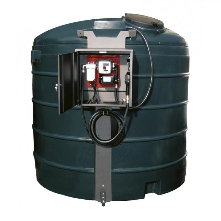 Rezervor PEMD de 5000 L cu statie transfer carburant 230 V
