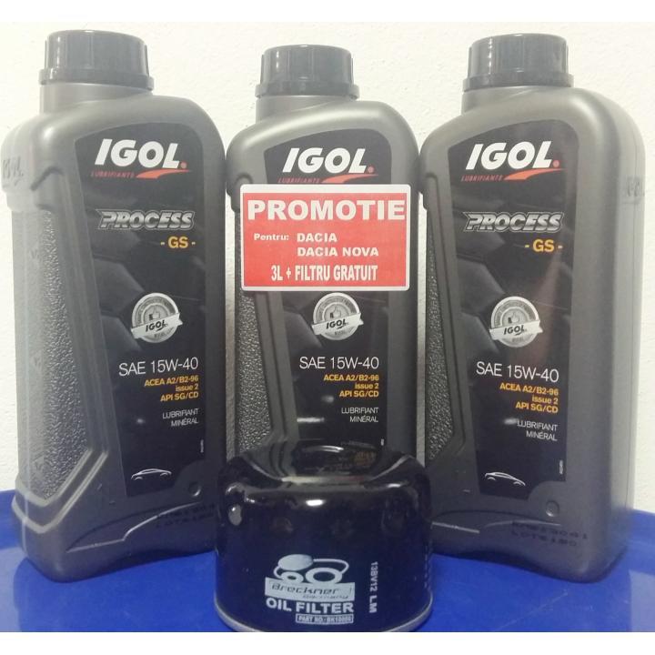 Ulei motor Igol Process GS 15W40/20W50, 4L + filtru