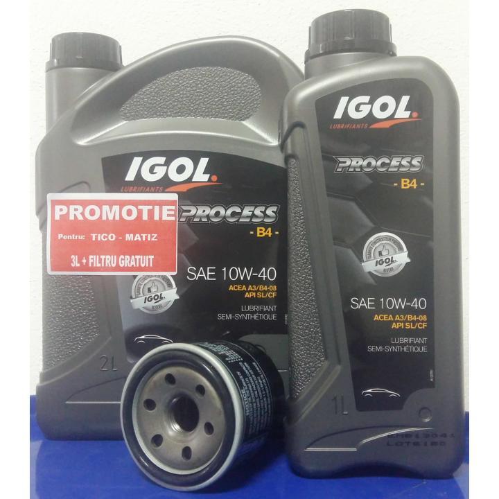 Ulei motor Igol Process Tico / Matiz B4 10W-40, 3L+filtru
