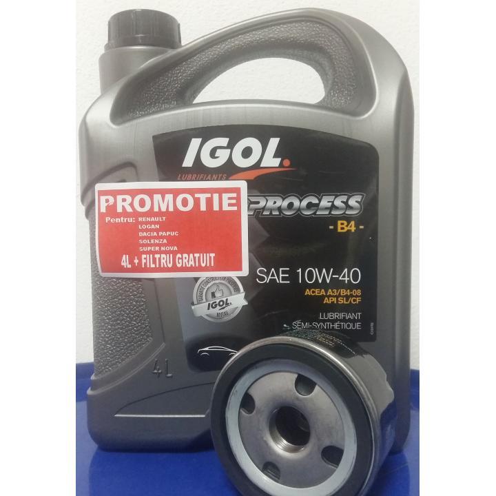 Ulei si filtru ulei Renault Dacia, Igol Process B4 10W-40
