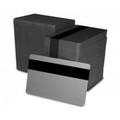 Card argintiu cu banda magnetica HiCo