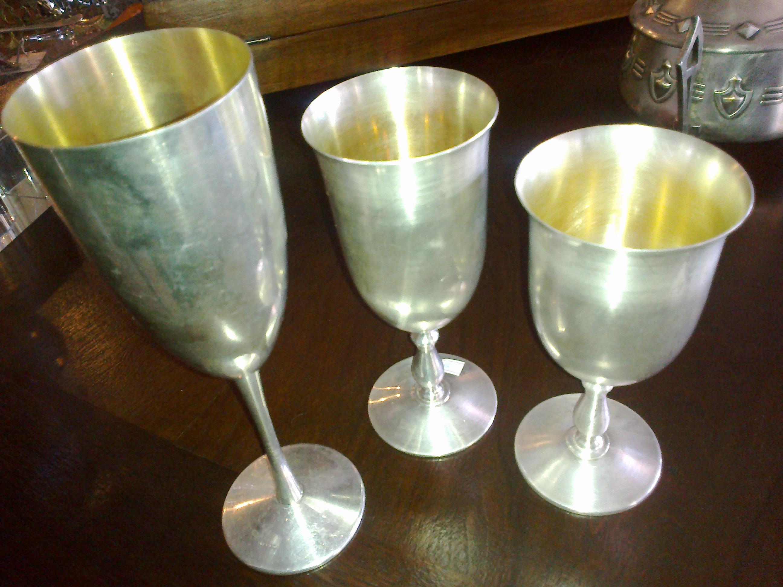 Pahare sampanie/vin-argint-800