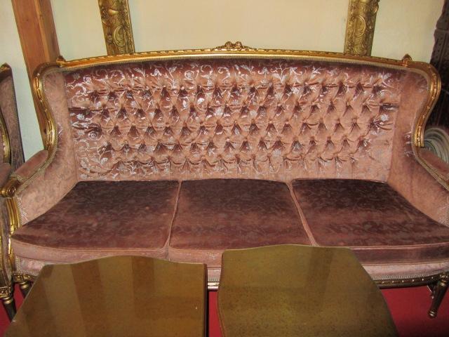 Set salon roz-auriu