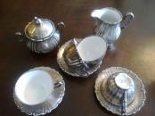 Set de cafea-argintat