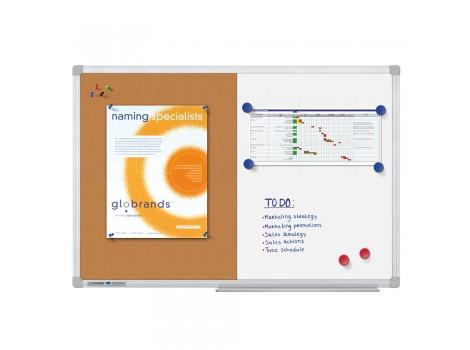 Tabla Combiboard Legamaster Economy, rama aluminiu, 90 x 120 cm