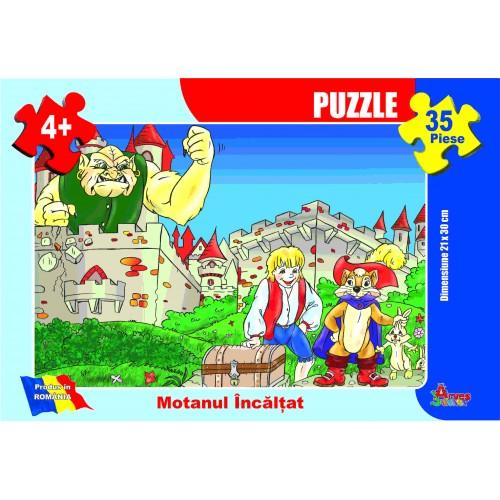 Puzzle - Motanul încălţat - 35 piese